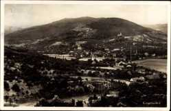 Postcard Kappelrodeck in Baden, Blick auf den Ort, Berg, Wald, Schornstein