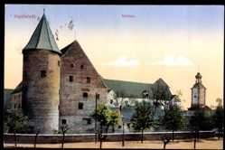 Postcard Ingolstadt an der Donau Oberbayern, Das Schloss mit Glockenturm