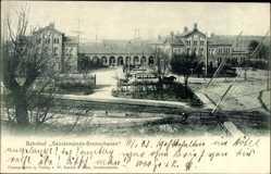 Postcard Geestemünde Bremerhaven Niedersachsen, Blick auf den Bahnhof