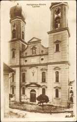 Postcard Lachen in Schwaben, Heiligkreuz Kirche, Frontansicht