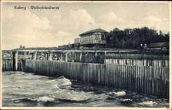 Ak Kołobrzeg Kolberg Pommern, Waldenfelsschanze, Wellenbruch