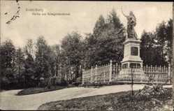 Ak Tschernjachowsk Insterburg Ostpreußen, Partie am Kriegerdenkmal