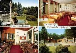 Postcard Engelskirchen Oberstaat NRW, Hotel Restaurant, Waldcafé Bergische Schweiz