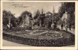Postcard Offenburg im Schwarzwald Ortenaukreis, Partie im Zwingerpark