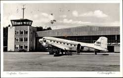 Postcard Hannover in Niedersachsen, British Airways Maschine, Flughafen, Tower
