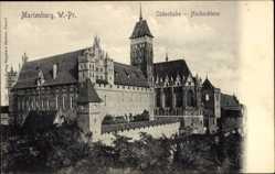 Ak Malbork Marienburg Westpreußen, Südostecke, Hochschloss