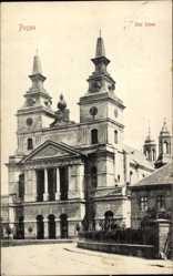 Ak Poznań Posen, Ansicht vom Dom, Zwillingstürme