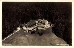 Postcard Freudenstadt im Nordschwarzwald, Fliegeraufnahme, Waldhotel Stokinger