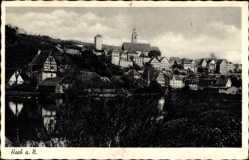 Postcard Horb am Neckar im Kreis Freudenstadt, Gesamtansicht, Fachwerkhaus