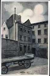 Künstler Ak Loeschmann, E., Wrocław Breslau Schlesien, Hof 2, Wolfarth, Fink
