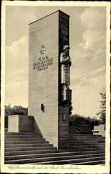 Postcard Neunkirchen Saar, Ansicht des Gefallenendenkmals