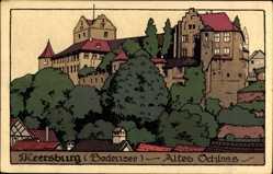 Steindruck Ak Meersburg im Bodenseekreis Baden Württemberg, Altes Schloss
