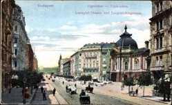 Postcard Budapest Ungarn, Lustspiel Theater und Leopold Ringstraße