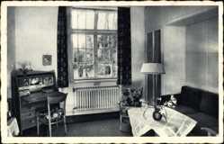 Postcard Seevetal, BDM Führerinnenschule, Zimmer der Schulführerin, Innenansicht
