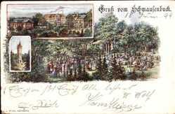 Künstler Ak Nürnberg, Lorenzer Reichswald, Schmausenbuck, Besucher