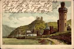 Künstler Litho Biese, C., Serie der Rhein 33 Blatt No. 1 33, Turm, Burgruine