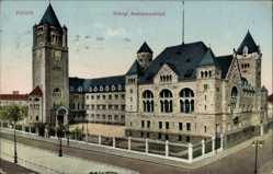 Ak Poznań Posen, Ansicht vom königlichen Residenzschloss