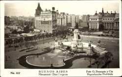 Postcard Buenos Aires Argentinien, Monumento Dos Congresso, Denkmal, Brunnen