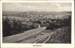 Postcard Budzanów Budaniw Budanow Ukraine, Panorama vom Ort, Felder