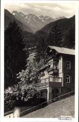 Postcard Oberstdorf Allgäu, Blick auf die Pension Waldesruh