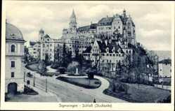 Postcard Sigmaringen an der Donau Baden Württemberg, Blick auf Schloss, Stadtseite
