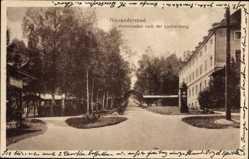 Postcard Bad Alexandersbad Fichtelgebirge, Kolonnaden nach der Louisenburg