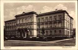 Postcard Gießen an der Lahn Hessen, Straßenpartie mit Blick auf die Universität