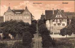 Postcard Hünfeld im Kreis Fulda, Hotel Engel in der Bahnhofstraße