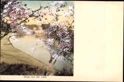 Postcard Lühe Jork im Kreis Stade, Serie Doppelton, Haus am Wasser