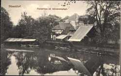 Postcard Düsseldorf am Rhein, Fischerhaus am Schwanenspiegel