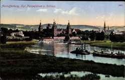 Postcard Aschaffenburg Unterfranken Bayern, Kgl. Pompejanum und Schloss