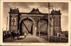 Postcard Ludwigshafen am Rhein Rheinland Pfalz, Portal der Rheinbrücke