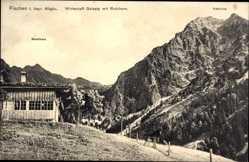 Postcard Fischen im Allgäu in Schwaben, Wirtschaft Geisalp mit Rubihorn