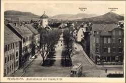 Postcard Reutlingen in Baden Württemberg, Lederstraße mit Tübingertor, Straßenbahn
