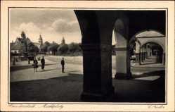 Postcard Freudenstadt im Nordschwarzwald, Marktplatz, Arkaden