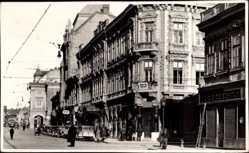 Postcard Miskolc Mischkolz Ungarn, Szechenyi Utca, Straßenpartie, Gebäude