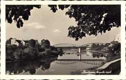 Postcard Karlovac Kroatien, Kupski Most, Brücke über den Fluss