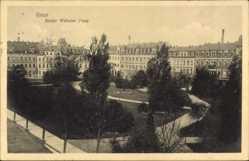 Postcard Riesa an der Elbe Sachsen, Blick auf den Kaiser Wilhelm Platz, Häuser