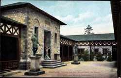 Postcard Bad Homburg vor der Höhe, Römerkastell Saalburg, Peristyl, Standbilder