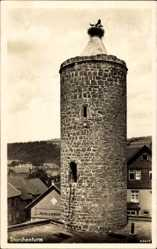 Postcard Vacha im Wartburgkreis, Storchenturm, Storchennest