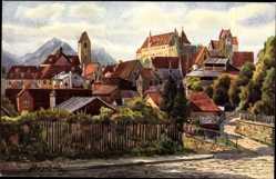Künstler Ak Marschall, V., Füssen Bayern, Aggenstein und Rossberg