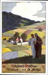 Künstler Ak Kutzer, Ernst, Adalbert Stifter, Abdias, 3 Ditha