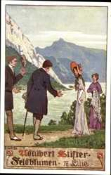 Künstler Ak Kutzer, Ernst, Adalbert Stifter, Feldblumen, 17 Lilie