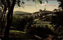 Postcard Kronberg im Taunus Hessen, Blick vom Mammolsmainerweg auf den Ort