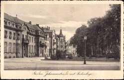 Postcard Gießen an der Lahn Hessen, Johannesstraße mit Südanlage