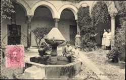 Postcard Cordoba Andalusien Spanien, Patio antiguo, Innenhof, Brunnen, Kinder
