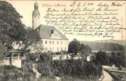 Ansichtskarte / Postkarte Schieritz Diera Zehren, Ansicht vom Schloss mit Turm