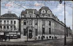 Postcard Hansestadt Bremen, Ansicht vom Neuen Sparkassengebäude