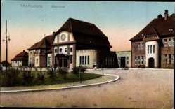Postcard Saarlouis im Saarland, Blick auf den Bahnhof