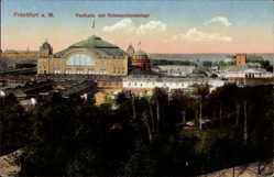 Postcard Frankfurt am Main, Festhalle mit Hohenzollernanlage, Internationale Messe